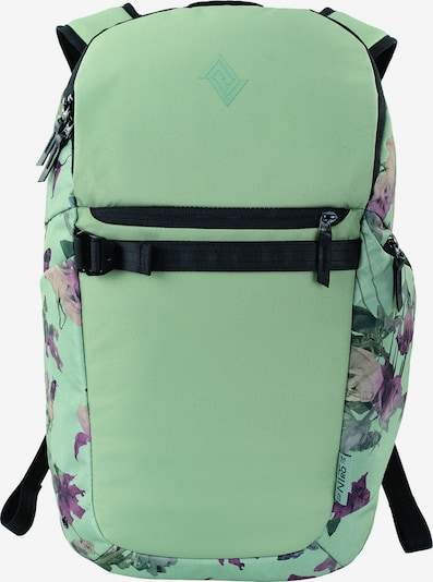 NitroBags Rugzak 'Nikuro' in de kleur Groen / Lila / Oudroze / Zwart, Productweergave