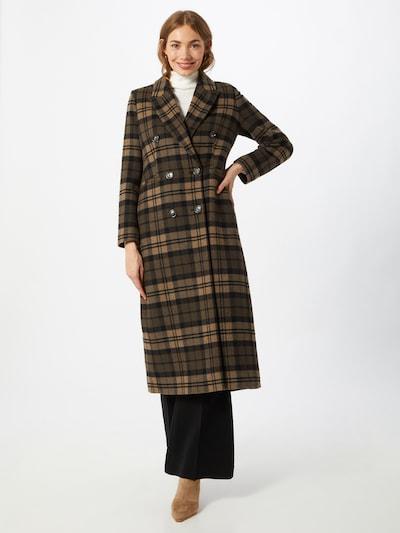 IVY & OAK Manteau mi-saison en marron / noir, Vue avec modèle