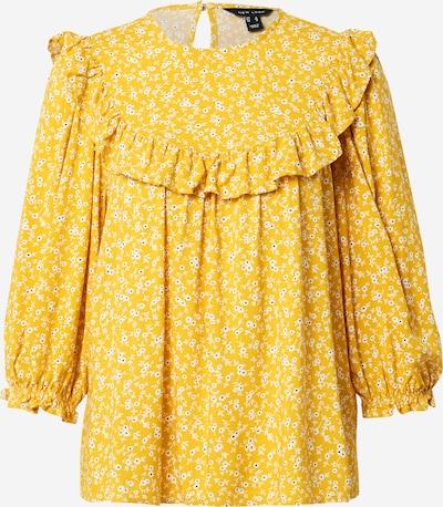 NEW LOOK Bluse 'BECCA' in gelb / schwarz / weiß, Produktansicht