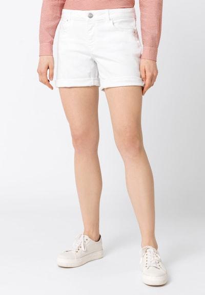 HALLHUBER Jeansshorts in weiß, Modelansicht