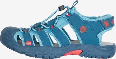 TROLLKIDS Sandals 'KVALVIKA' in Light blue / Dark blue / Coral, Item view