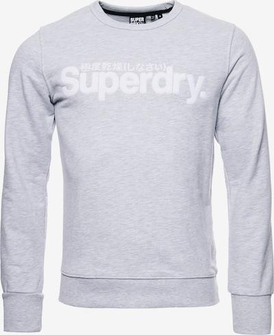 Superdry Sweatshirt 'Core' in grau / weiß, Produktansicht