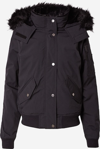HOLLISTER Φθινοπωρινό και ανοιξιάτικο μπουφάν σε μαύρο