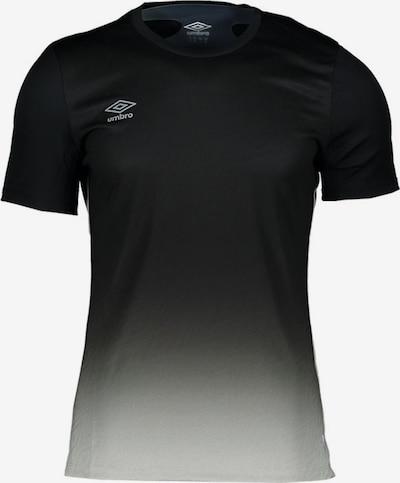 UMBRO T-Shirt in schwarz / offwhite: Frontalansicht