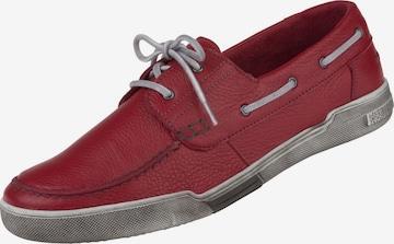 Natural Feet Schnürschuh 'Torino' in Rot