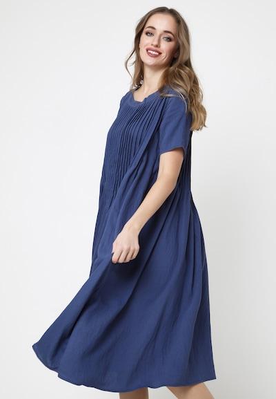 Madam-T A-Linien-Kleid 'DARI' in blau, Modelansicht