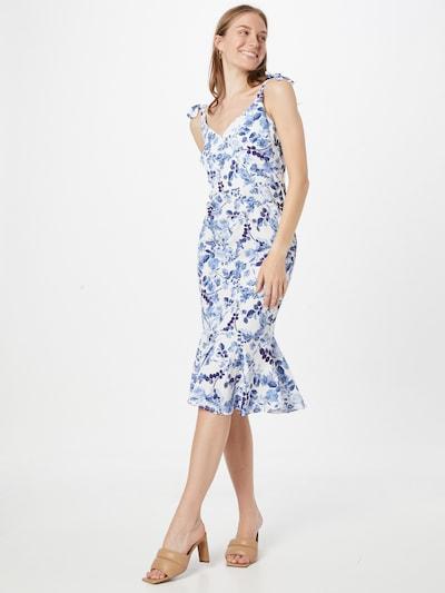 Sistaglam Kleid 'KARINA' in blau / weiß, Modelansicht