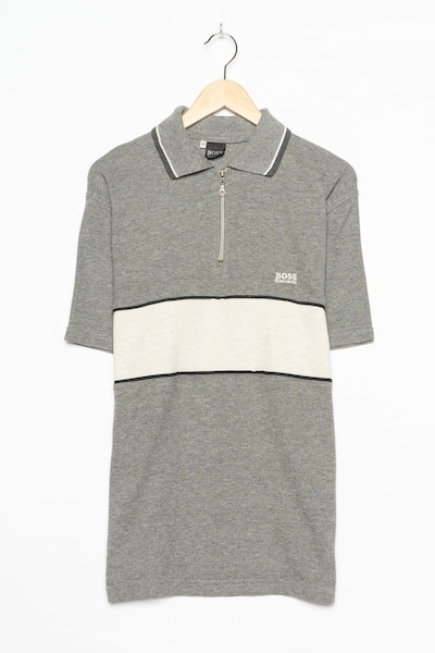 HUGO BOSS Polohemd in M in grau, Produktansicht