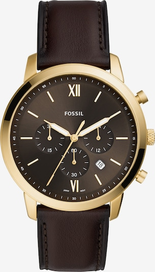 FOSSIL Analoginen kello värissä tummanruskea / kulta, Tuotenäkymä