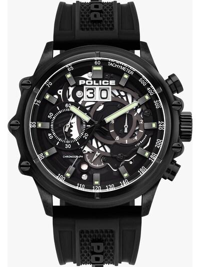 POLICE Uhr in schwarz, Produktansicht
