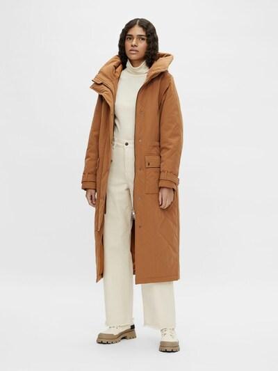 OBJECT Mantel in braun, Modelansicht