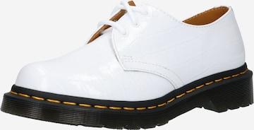 Scarpa stringata di Dr. Martens in bianco