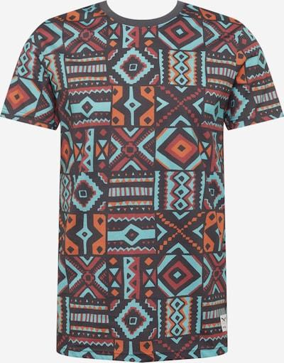 Iriedaily Shirt 'Theodore' in de kleur Turquoise / Antraciet / Sinaasappel / Kreeft, Productweergave