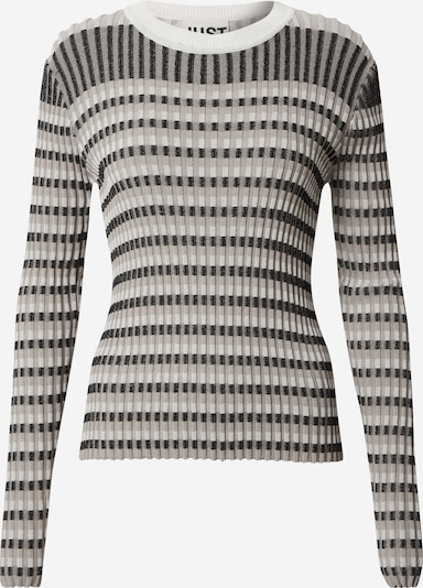 JUST FEMALE Sweater 'Lazio' in Beige / Black / White, Item view