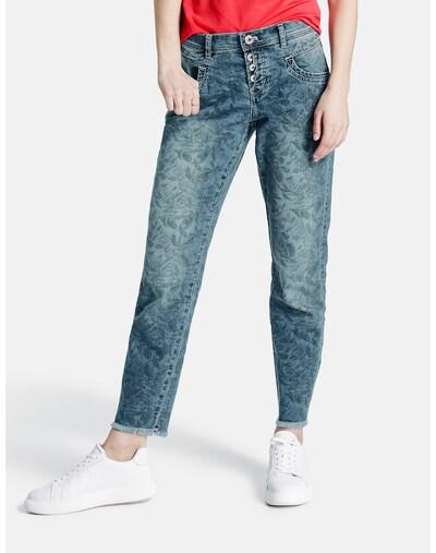 TAIFUN Jeans in blau / grün, Modelansicht