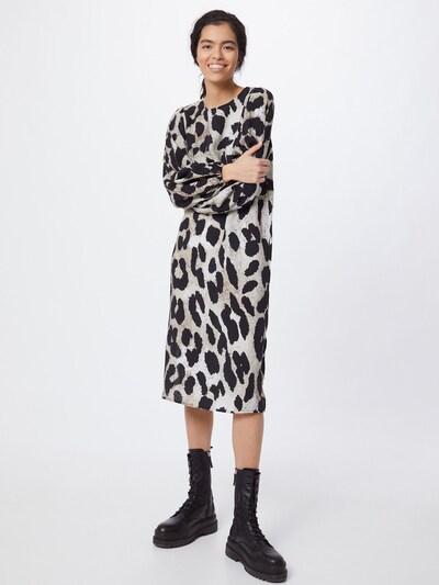 OBJECT Kleid in beige / schwarz, Modelansicht