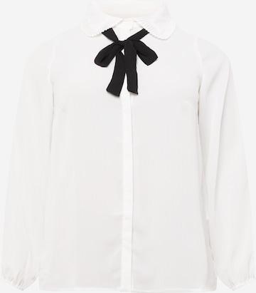 Bluză 'Gerry' de la ONLY Carmakoma pe alb