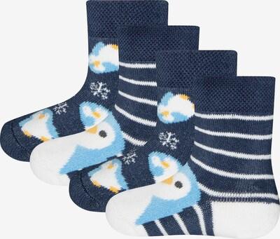 Kojinės iš EWERS , spalva - mėlyna / šviesiai mėlyna / balta, Prekių apžvalga