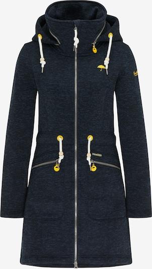 Schmuddelwedda Outdoormantel in de kleur Navy / Neongeel / Wit, Productweergave