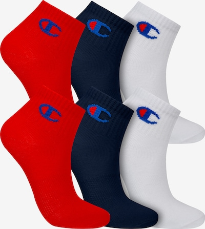Champion Authentic Athletic Apparel Sneakersocken ' 6er-Pack Ankle Socks Kids ' in navy / rot / weiß, Produktansicht