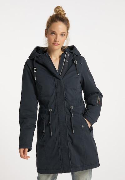 DreiMaster Vintage Winter Coat in Navy, View model