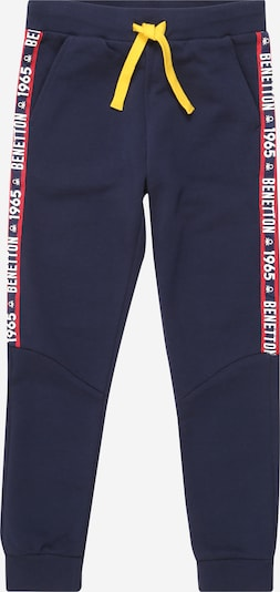 UNITED COLORS OF BENETTON Hose in navy / gelb / rot / weiß, Produktansicht