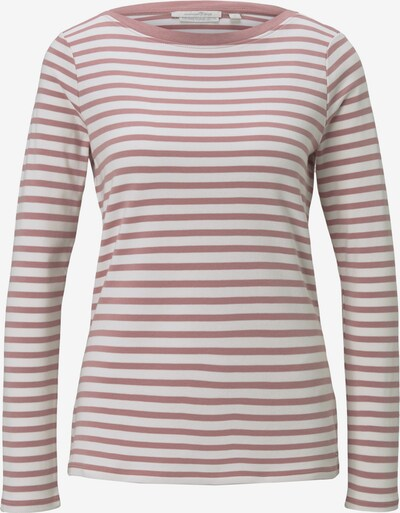 TOM TAILOR DENIM T-Shirt in altrosa / weiß, Produktansicht