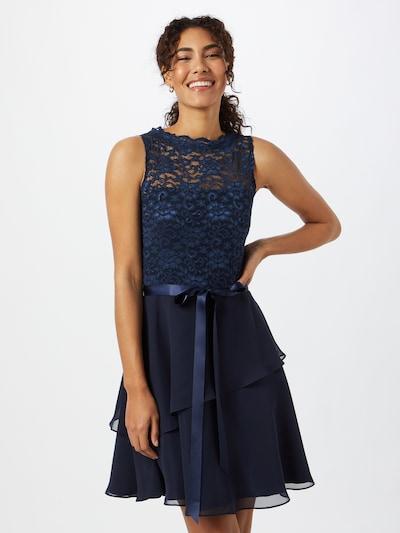 SWING Robe de cocktail en bleu foncé, Vue avec modèle