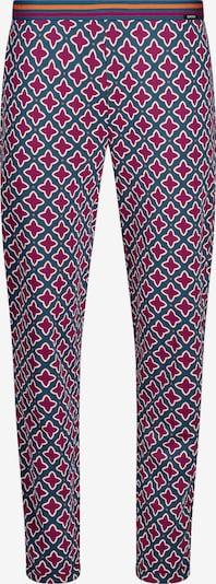 Skiny Pantalón de pijama en azul oscuro / frambuesa / rojo anaranjado / blanco, Vista del producto