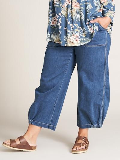 GOZZIP Jeans 'Clara' in blau: Frontalansicht