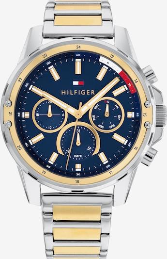 TOMMY HILFIGER Uhr in dunkelblau / gold / rot / silber / weiß, Produktansicht