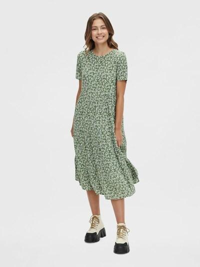 PIECES Kleid 'Rebecca' in grün / weiß, Modelansicht
