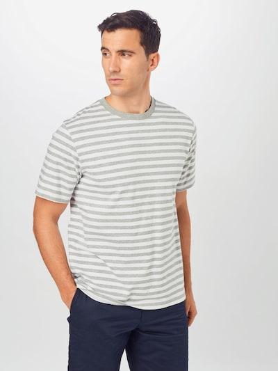WOOD WOOD Тениска 'Sami' в сиво / бяло: Изглед отпред
