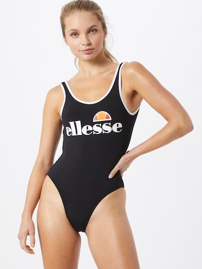 ELLESSE Jednodijelni kupaći kostim u crna / bijela, Prikaz modela