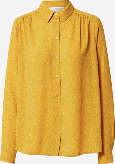 Bluză 'DYNELLA' SELECTED FEMME pe galben / alb, Vizualizare produs