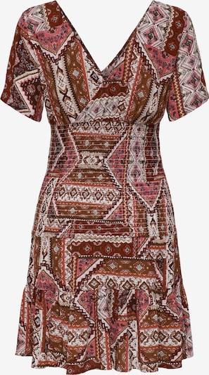 ONLY Kleid 'Adele' in braun / rosa / weinrot / weiß, Produktansicht