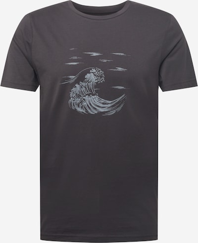 világoskék / fekete ARMEDANGELS Póló 'JAAMES SEA', Termék nézet