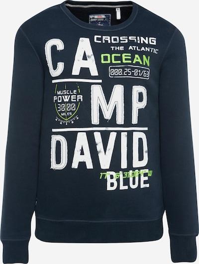 CAMP DAVID Sweatshirt mit Logo-Design in dunkelblau, Produktansicht