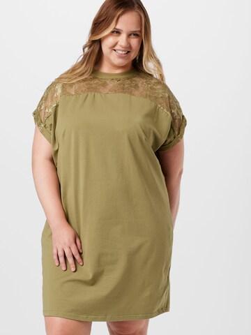 Urban Classics Curvy Dress in Green