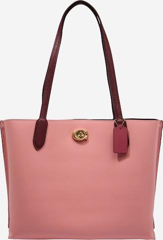 COACH Shoppingväska i rosa