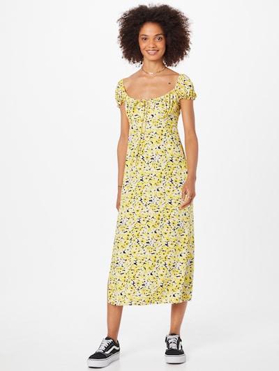 Motel Kleid 'CEWEN' in nachtblau / gelb / pastellgelb / weiß, Modelansicht