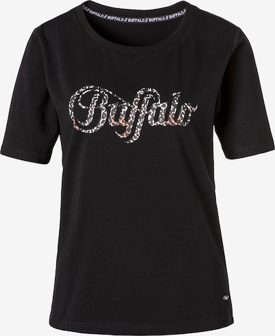 BUFFALO T-Shirt in hellgrün / pastellorange / schwarz, Produktansicht