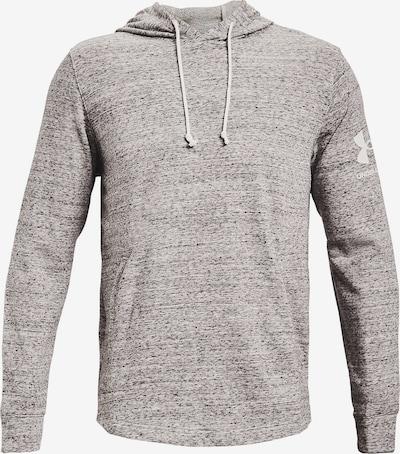 UNDER ARMOUR Sportsweatshirt in graumeliert / weiß, Produktansicht