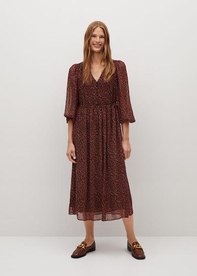 MANGO Letní šaty 'garden' - červená, Model/ka