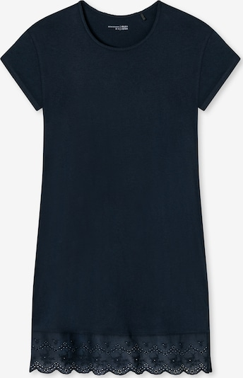 SCHIESSER Kurzarm Nachthemd ' Cozy Nights ' in dunkelblau, Produktansicht