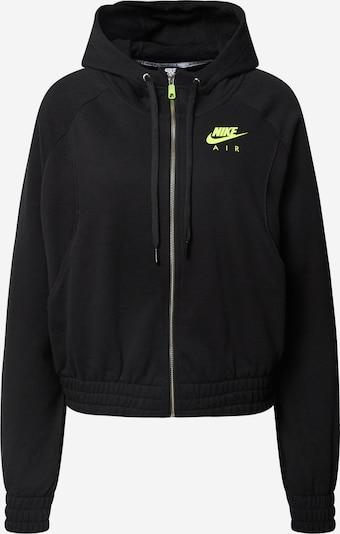 Nike Sportswear Sweatjacke in neongrün / schwarz, Produktansicht