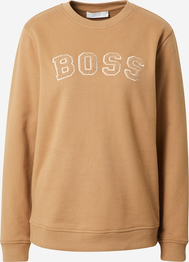 BOSS Casual Sweat-shirt 'Esety' en beige clair / blanc, Vue avec produit