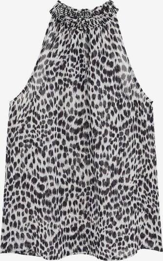MANGO Top 'IRENE' in schwarz / weiß, Produktansicht