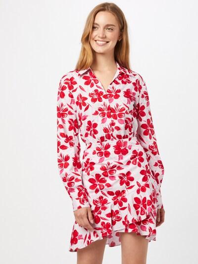 NA-KD Košilové šaty - růžová / světle červená / bílá, Model/ka