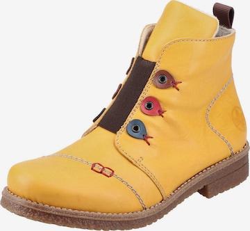 RIEKER Členkové čižmy - Žltá